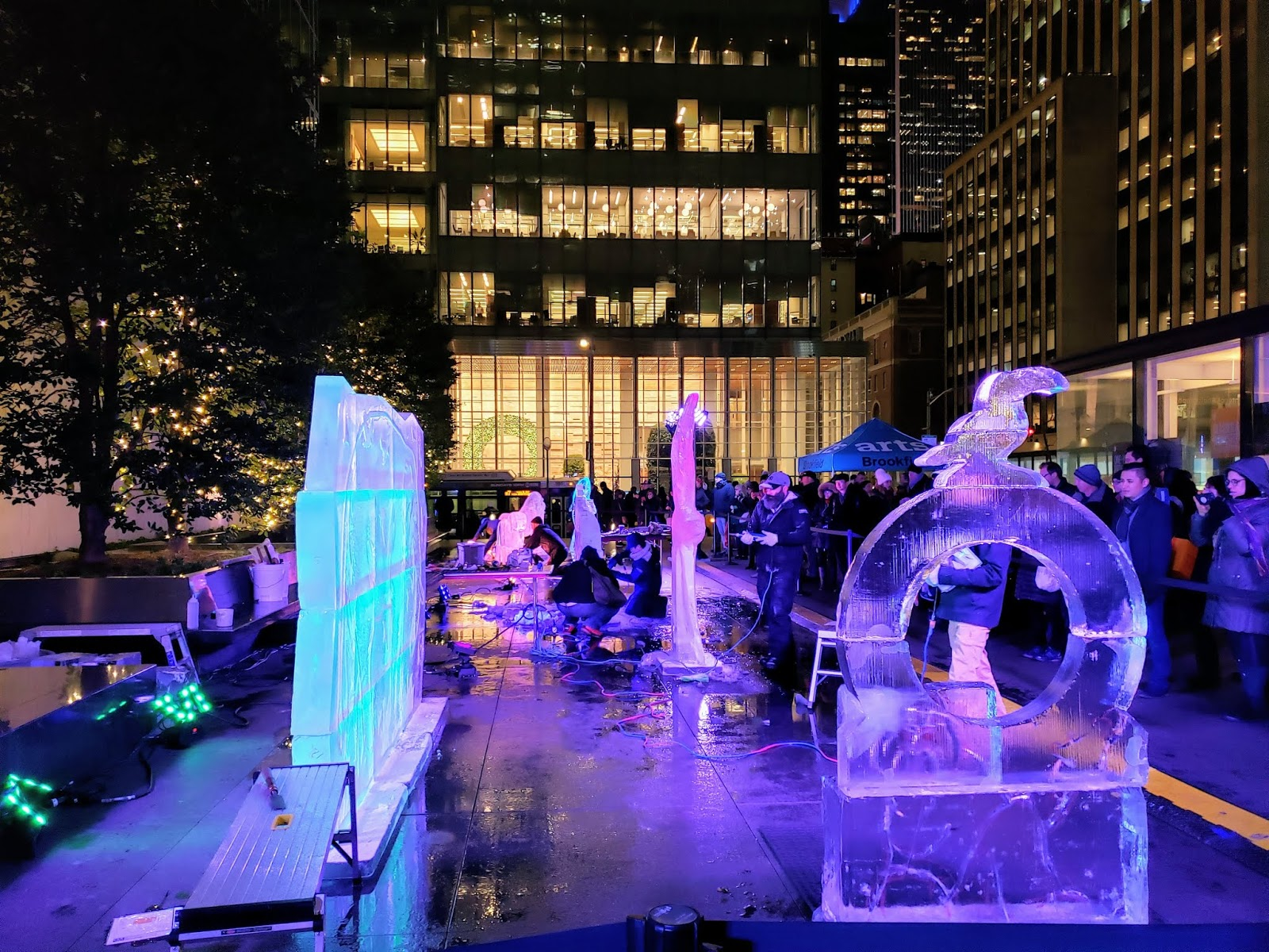 Ice Sculpture Contest, Bryant Park