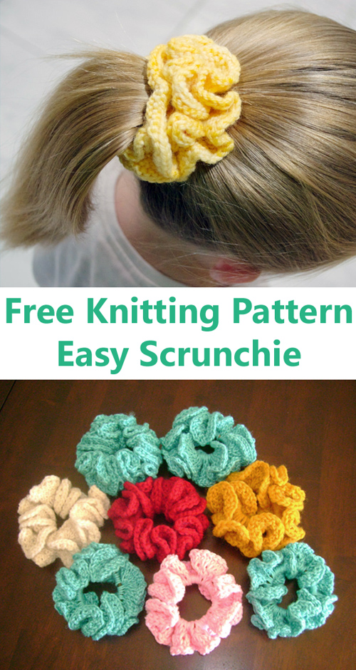 Easy Hair Scrunchie - Free Pattern