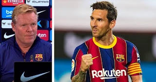 """""""It is very positive that the team captain shows himself in this sense: Koeman happy Messi asking for unity"""