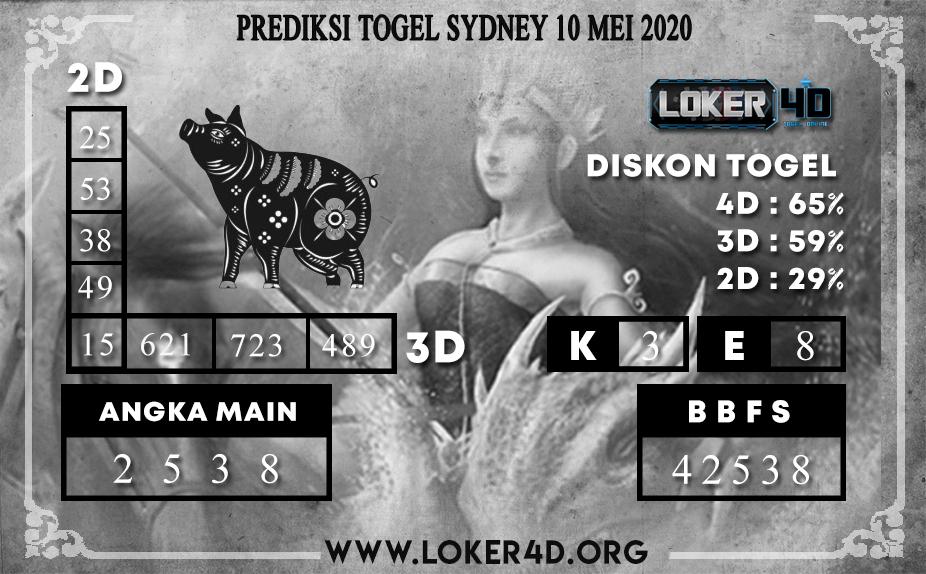 PREDIKSI TOGEL SYDNEY LOKER4D 10 MEI 2020
