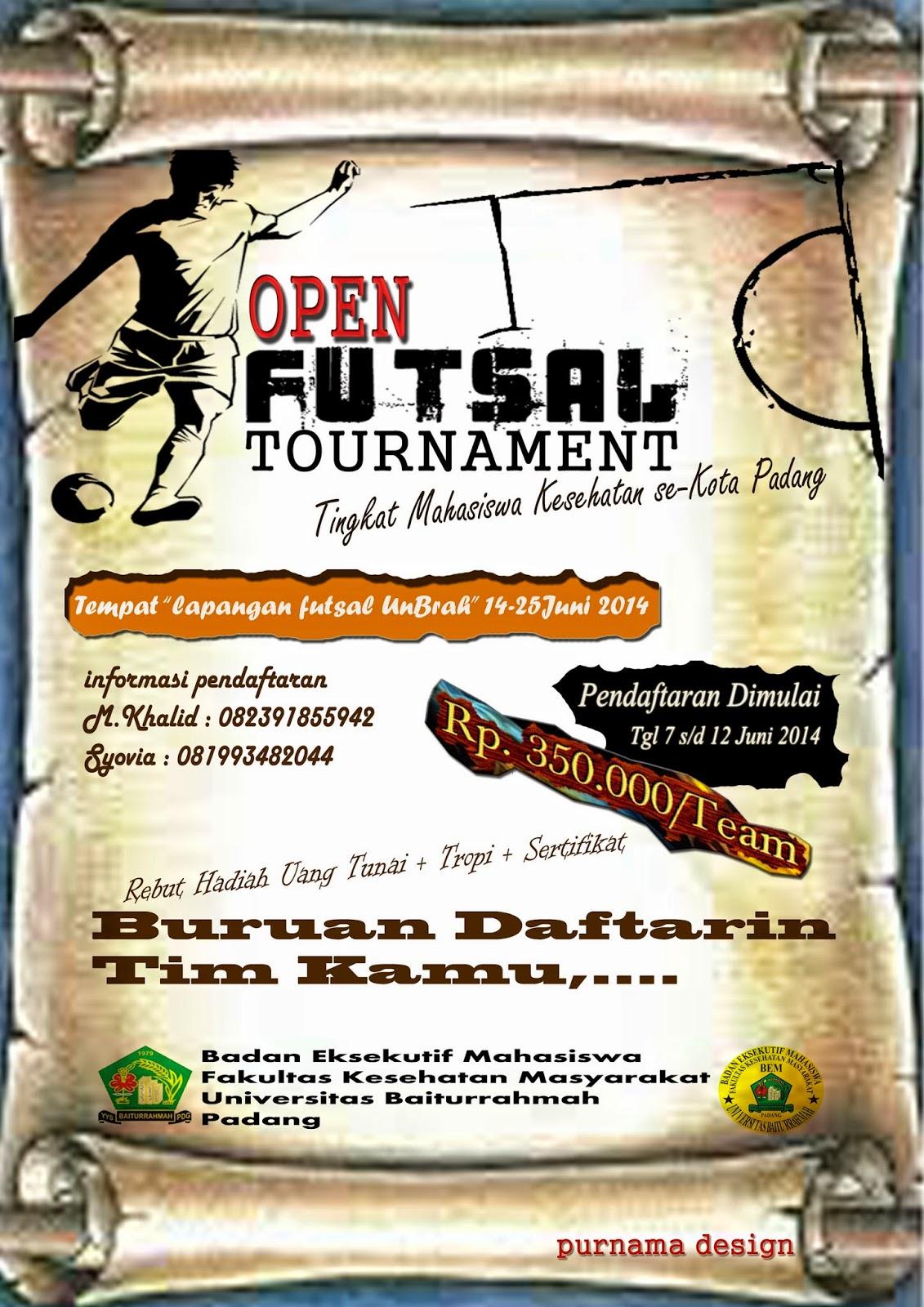 Contoh Brosur Dan Kokarde Futsal Tournament