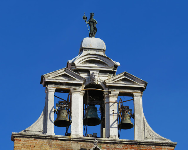 Bell tower of San Giacomo di Rialto, San Polo, Venice
