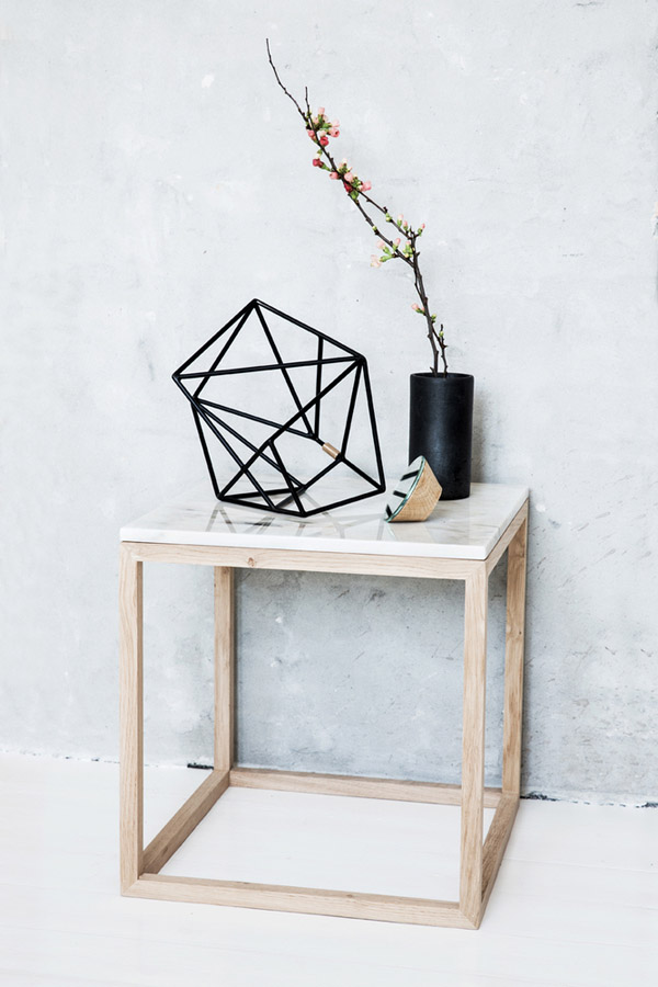 mesa rincón tapa de mármol
