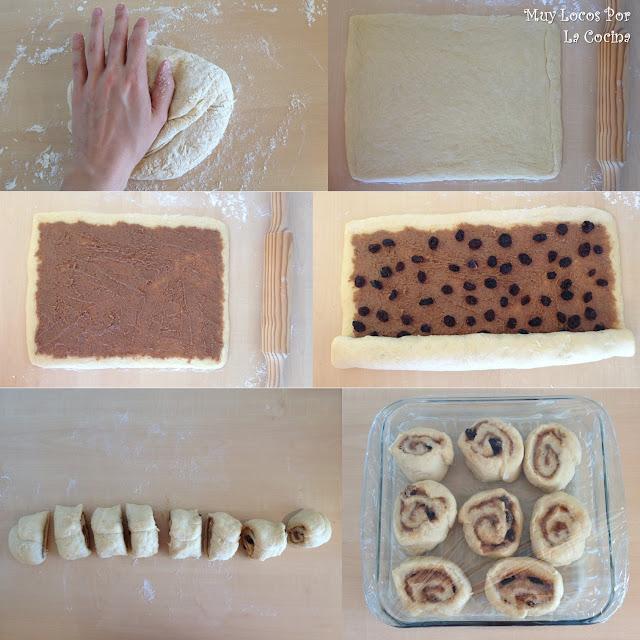 Cómo hacer caracoles de Canela o caracolas de canela (Cinnamon Rolls o Buns)