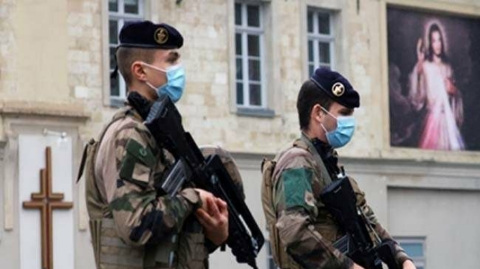 A suspected terrorist who shot the pastor in a church in France has been arrested.