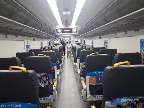 interior KA Bandara Railink Jakarta