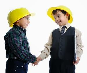 Hijos educados por Papá en el trabajo