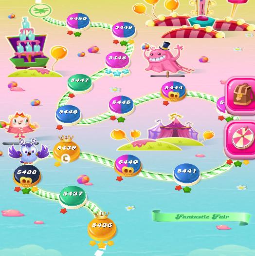 Candy Crush Saga level 5436-5450