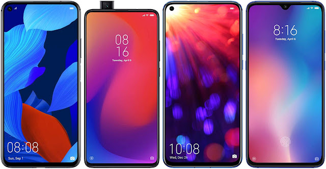 Huawei Nova 5T vs Xiaomi Mi 9T Pro vs Honor View 20 vs Xiaomi Mi 9