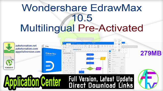 Wondershare EdrawMax 10.5 Multilingual Pre-Activated