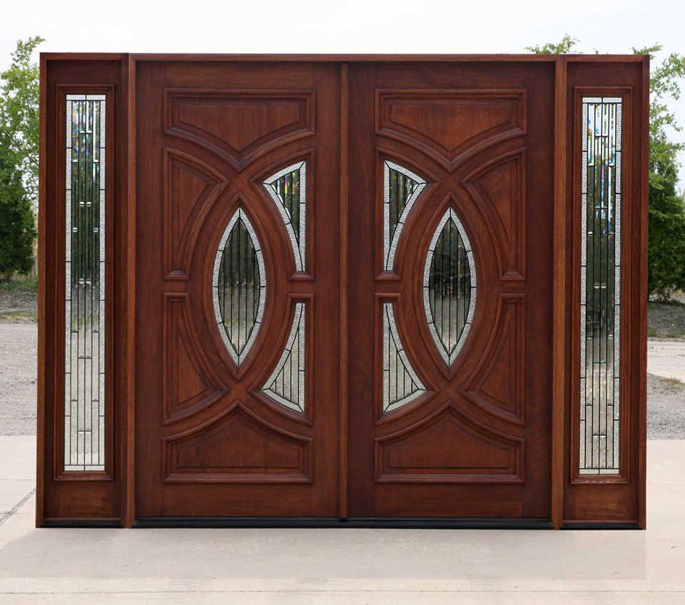 27 contoh gambar Model desain pintu minimalis kayu jati ...