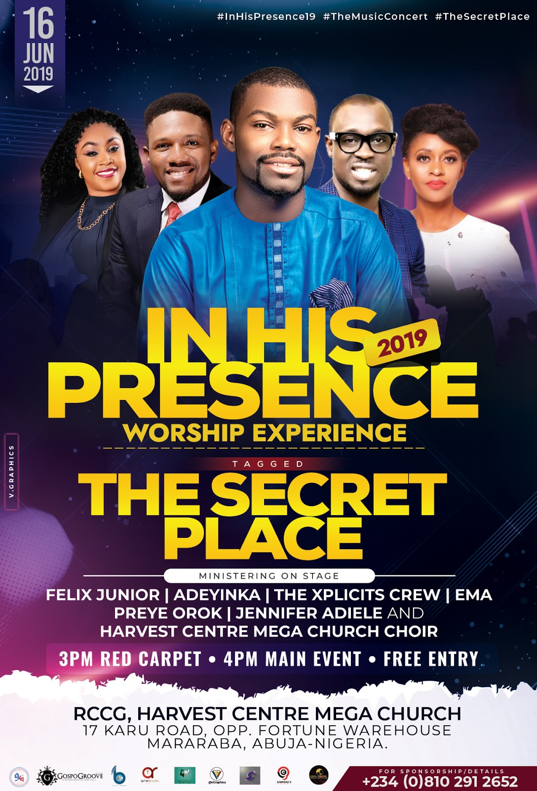 Event: Felix Junior, Preye Orok, Ema & Jennifer Adiele To Headline In His Presence Worship Experience 2019 || @iamfelix_junior