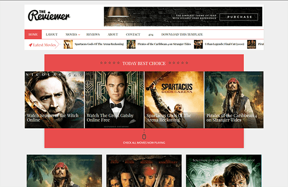 The Reviewer Blogger Template