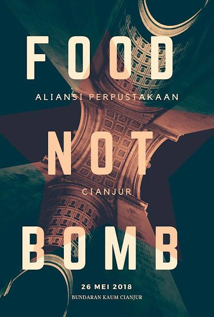Aliansi Perpustakaan Cianjur : Food Not Bomb ( 26/5/2018) di Bundaran Masjid Agung