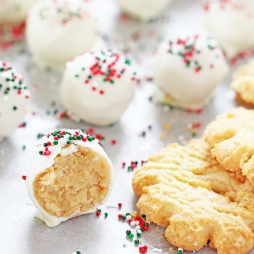 SUGAR COOKIE TRUFFLES #cookie #dessert