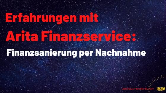 Titel: Erfahrungen mit Arita Finanzservice: Finanzsanierung per Nachnahme