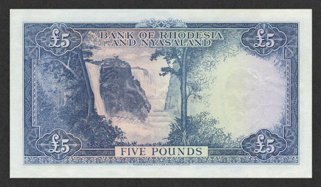 Rhodesia and Nyasaland Five Pounds