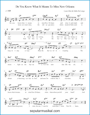 Do You Know What It Means to Miss New Orleans chords jazz standar