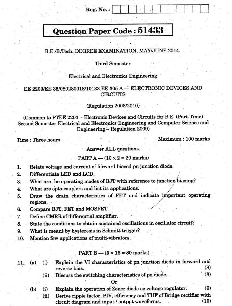 ee2203 electronic devices and circuits may june 2014 question paper