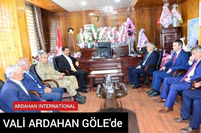 Ardahan valisi Mustafa masatlı göle ilçesindeydi
