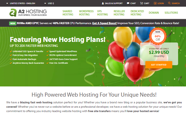 A2 Hosting overview with some features explained | best hosting