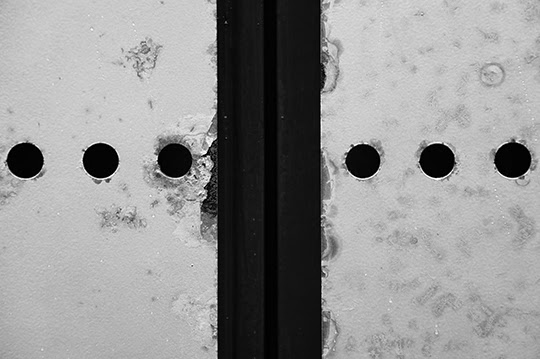 six holes, urban, photography, black and white, abstract,