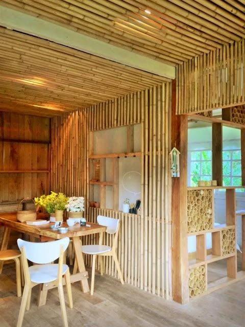 desain warung kopi dari bambu