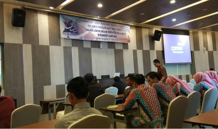 STAPBAAK Ikuti Workshop Verifikasi dan Validasi Pangkalan Data Dikti di Bandar Lampung stapbaak