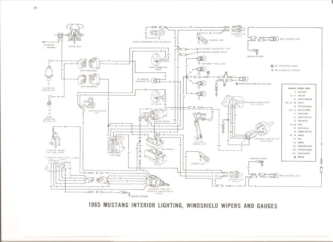 Free Auto Wiring Diagram: 1965 Ford Mustang Interior Light