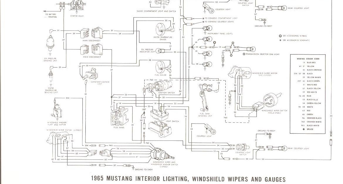 Free Auto Wiring Diagram: 1965 Ford Mustang Interior Light