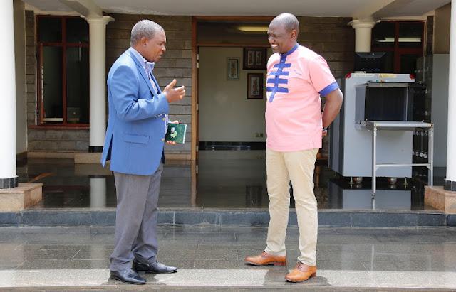 Deputy President William Ruto meets ex-Central Bank of Kenya Governor Njuguna Ndung'u photo