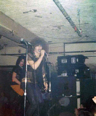 Twisted Sister on stage at Speaks February 1978 in Island Park, Long Island, New York