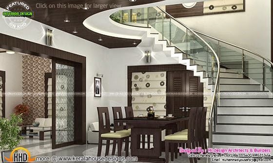 Dining room and staircase