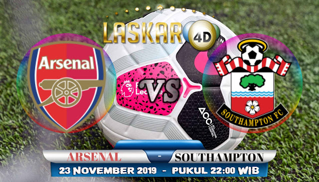 Prediksi Pertandingan Bola Arsenal vs Southampton 23 November 2019