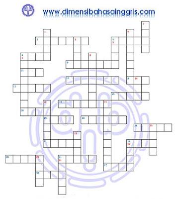 Belajar Synonym Dengan Crossword Puzzle