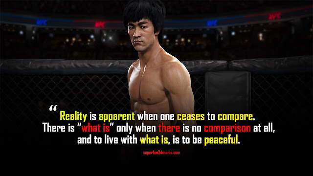 """Reality is apparent when one ceases to compare. There is """"what is"""" only when there is no comparison at all, and to live with what is, is to be peaceful."""