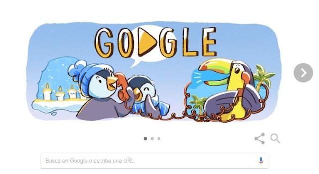 Google celebra el inicio de las fiestas navideñas con su doodle