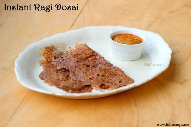 Instant Ragi Dosa