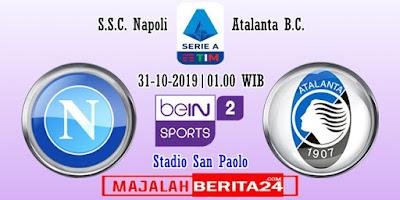 Prediksi Napoli vs Atalanta — 31 Oktober 2019