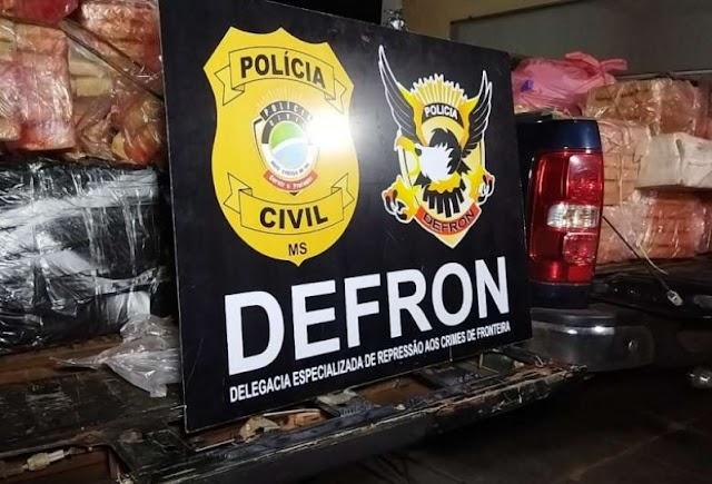 Polícia apreende cerca de 2t de maconha após investigações em cidades da fronteira
