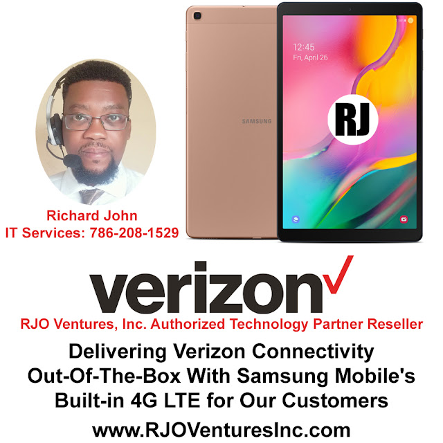Delivering Verizon Connectivity Out-Of-The-Box With Samsung Mobile's Built-in 4G LTE [RJOVenturesInc.com]