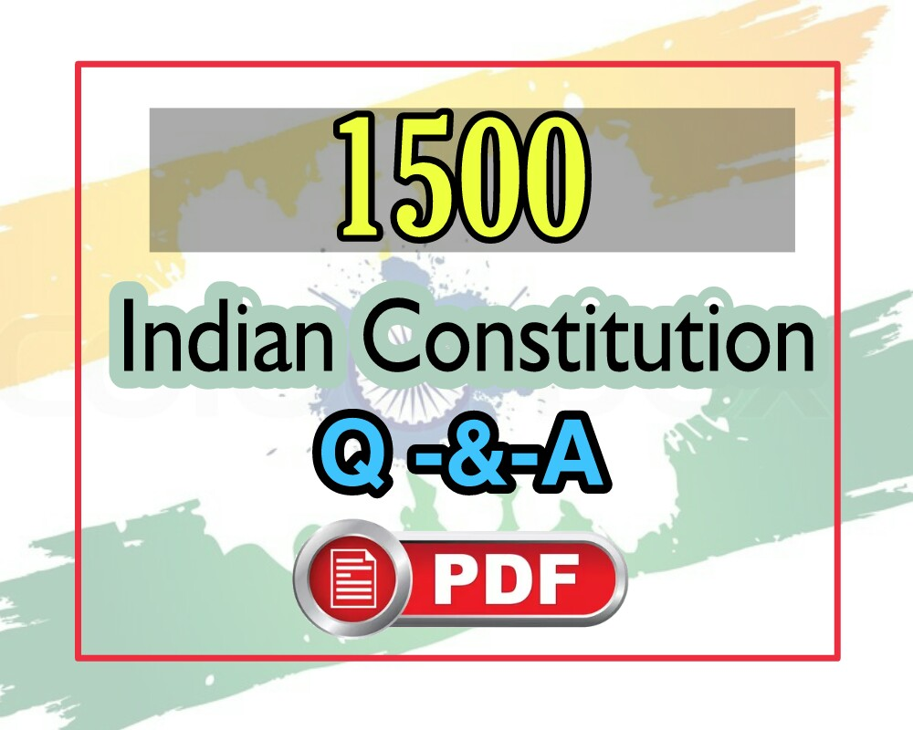 1499+ Indian Constitution Questions Answers Mcq PDF Download