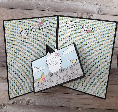 Peekaboo farm Stampin up fun fold pop up card