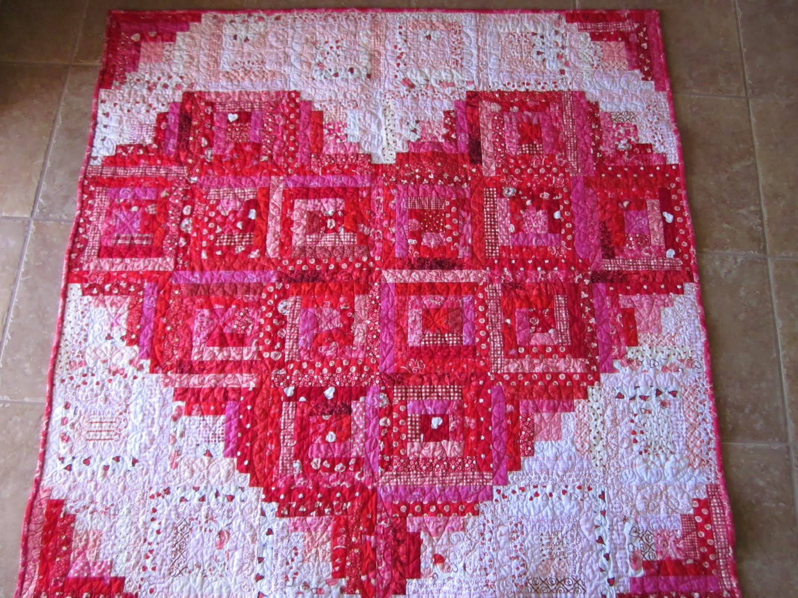 Zany Quilter Valentine Quilt Tutorial Sort Of