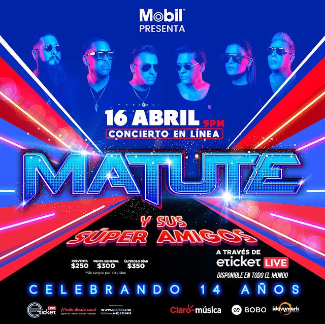 """Tras su gran éxito en streaming, Matute vuelve con """"Matute y sus súper amigos celebrando 14 años"""""""