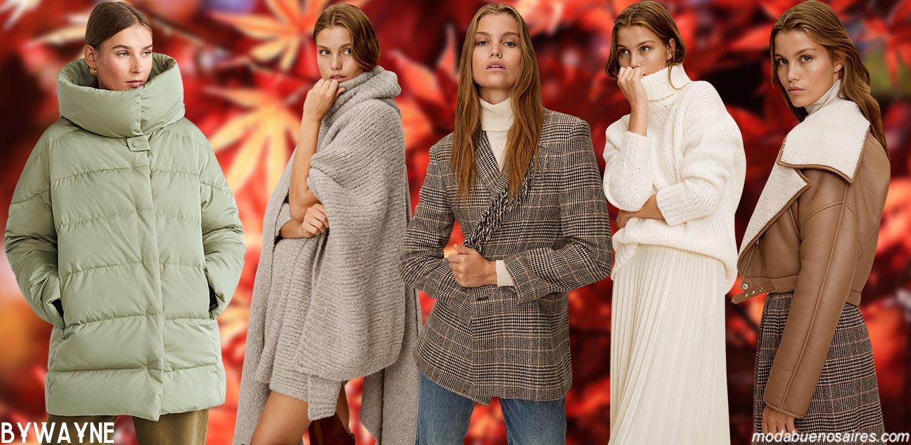 Moda invierno 2020 casual urbana en ropa de mujer. Moda invierno 2020.