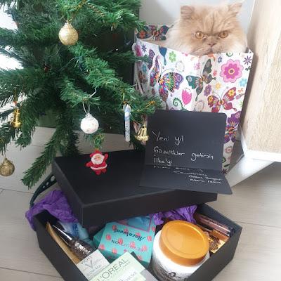 hediyeleşme, yılbaşı hediyesi, makyaj blogu, güzellik blogu, kedi blogu