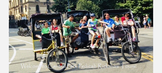 Central Park Pedicab Rickshaw Tours by NYCpedicabs.com