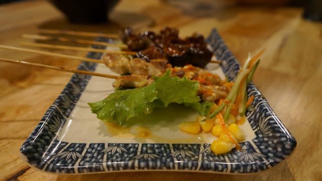 Taichan, Beef BBQ, Shitake Mushroom di Shinjuku Japanese Street Food Pontianak