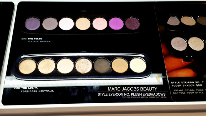 Marc Jacobs Beauty Style EyeCon No 7 Plush Eyeshadows Palettes Tease 202 Lolita 206 Photos Indian Darker Skin Makeup Blog Swatches